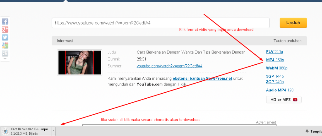 cara download video youtube tanpa IDM