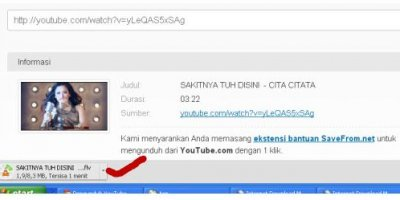 cara download video dari youtube